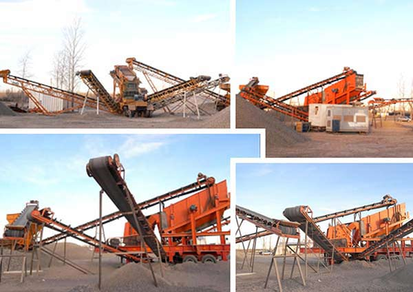 Rubber Tyred Mobile Crusher Production Line